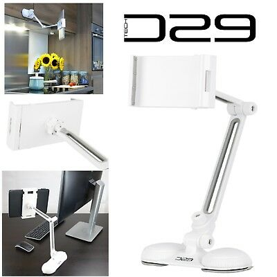 Universal 360 Rotating IPad Tablet Desk Office Kitchen Mount Holder Cradle Stand • 12.95£