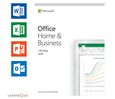 Microsoft Office Home And Business 2019 For PC/MAC • 75.99£