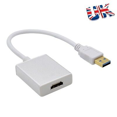 USB 3.0 To HDMI 1080P HD Video Cable Adapter Converter For Laptop PC HD TV • 9.39£