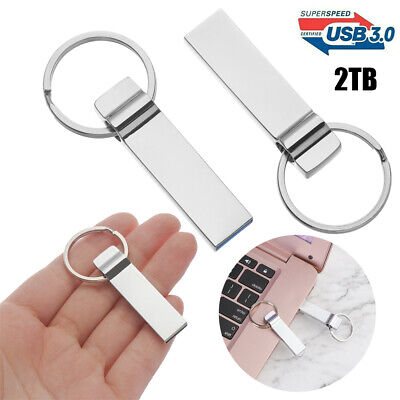 2TB Flash Drive USB 3.0 Memory Stick Pendrive Disk Metal Key Thumb For PC • 5.32£