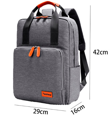 New Smart Grey Laptop Bag - Business - Work - Rucksack - Will Fit 15  Laptop  • 9.99£