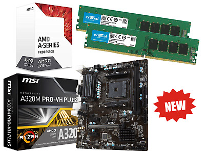 AMD Quad Core Gaming Motherboard CPU Bundle 16GB RAM Pre-Assembled • 199.95£