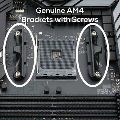NEW Genuine AM4 AMD CPU Cooler Mounting Brackets With Screws + Backplate • 8.95£