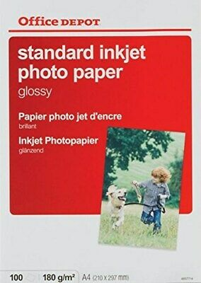 100 X A4 Everyday Inkjet Gloss Photo Paper 180gsm 4857714 T2TD# • 5.95£