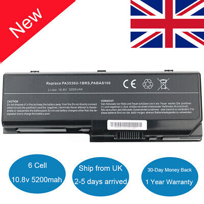 New Laptop Battery For Toshiba Satellite L350 P200 P300 PA3536U-1BRS Equium L350 • 18.99£
