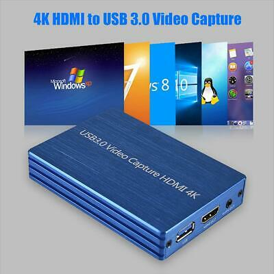4K HDMI To USB 3.0 1080P Video Capture Card For OBS Game Live Streaming Plug JY • 54.56£