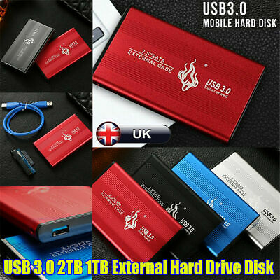 2.5'' USB 3.0 2TB External Hard Drive Disk HDD Fit For PC Laptop Portable UK • 31.99£