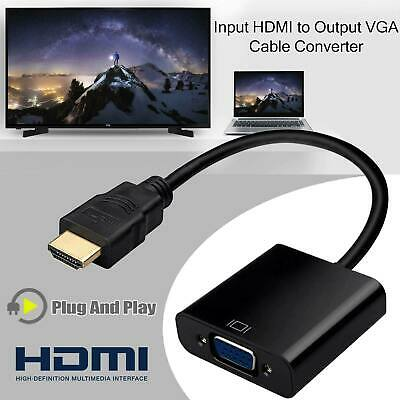 HDMI INPUT To VGA OUTPUT – HDMI To VGA Converter Adapter For PC DVD TV Monitor • 3.39£