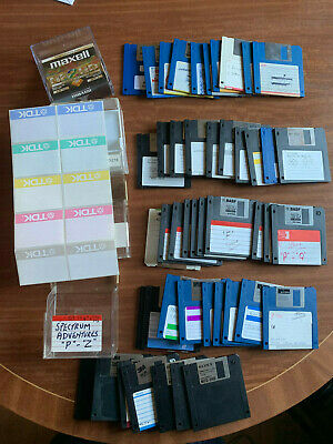 48 Used Floppy Disks With Labels And Plastic Containers • 25£