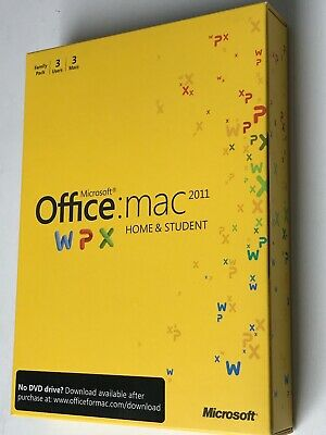 Microsoft Office For Mac Home And Student 2011 For 3 Users • 10.50£