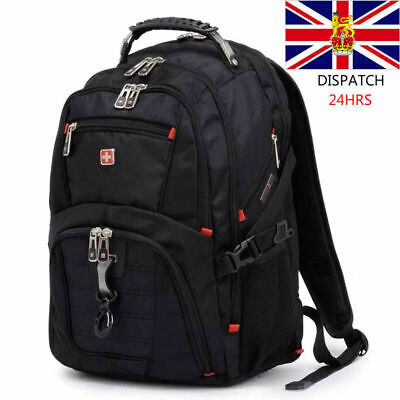 Mens Wenger Swissgear 17.1 Inch Backpack Laptop Large Travel Backpack Capacity • 32.31£