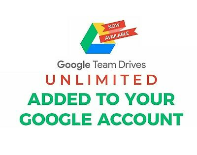 Unlimited Google Drive Storage - Team Driver - Lifetime - NEW • 0.99£