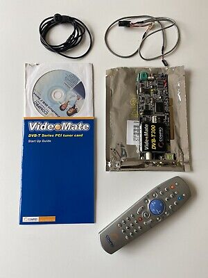 Compro Video Mate T300 DVB-T TV Card - Including Remote, Sensor, & Manual • 9.99£