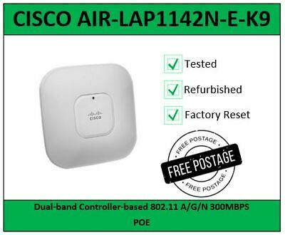 ** Cisco AIR-LAP1142N-E-K9 802 11n Wireless Dual Band Access Point POE ** • 18.99£