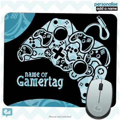 Personalised BOYS GAMER Controller Mouse Mat Pad Kids PC Laptop Computer Room • 5.49£