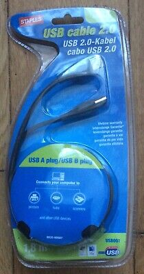 Job Lot Of19 X USB Cable 2.0  1.8meters Length For Printers, Hubs, Scanners Etc  • 18£