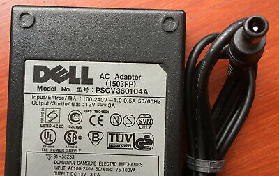 Dell AC Adapter PSCV360104A (1503FP) 12v 3a Monitor Screen Power Supply  • 12£