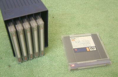 IOMEGA Zip 100Mb Disk Jewel Case Pack Of 6 With Library Box / Rack - Used • 27.95£