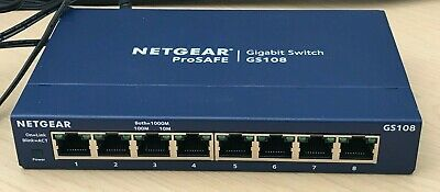 NETGEAR GS108UK 8-port Gigabit Ethernet Unmanaged Switch 8 Port • 4.99£