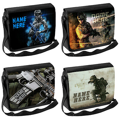 Personalised Game School Shoulder Bag Travel Laptop Case Messenger Gamer Gift • 16.95£