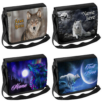 Personalised Wolf School Shoulder Bag Travel Laptop Case Messenger Wolves Gift • 16.95£