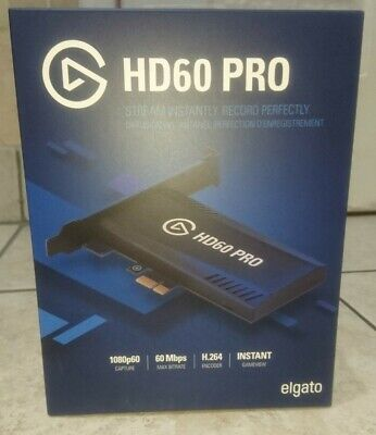 Elgato Game Capture Hd60 Pro 1080p For Xbox 360 Sony PlayStation 4 Wii U • 120£