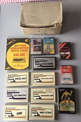 Vic 20 Games + Instructions • 11.50£