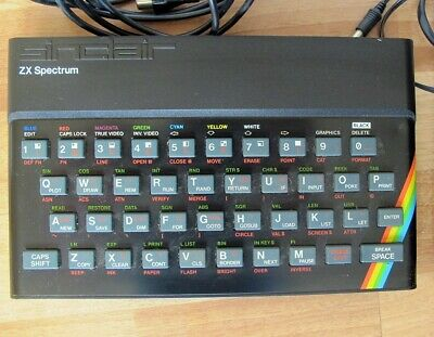 Sinclair ZX Spectrum 48K Boxed With PSU And RF Lead. • 53.77£