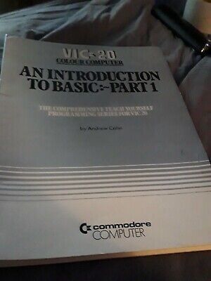 Vic-20 Introduction To Basic Part 1 Commodore Manuel Book • 10£