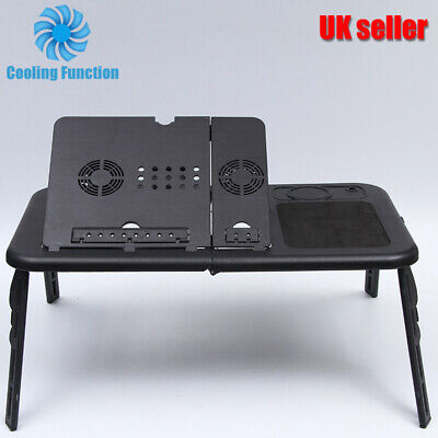 Laptop Notebook Desk Table Stand Cooling Fan Portable Laptop Table For Bed Sofa • 9.39£