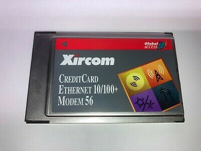 Xircom CEM56-100 Ethernet 10/100+ Modem 56 Global Access PCMCIA • 19.99£