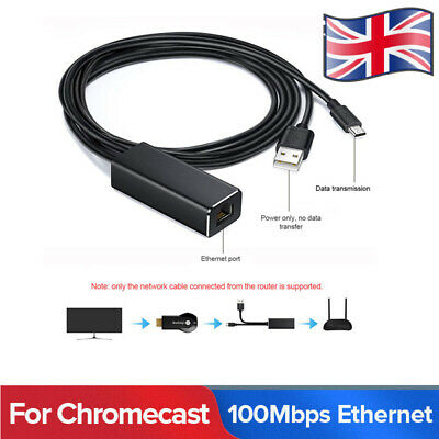 Ethernet Adaptor For Amazon Fire Stick Fire TV Box Micro USB To RJ45 Lan Network • 7.59£