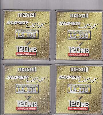 4 Maxell 3  120mb Disks In Case For Amstrad • 3£