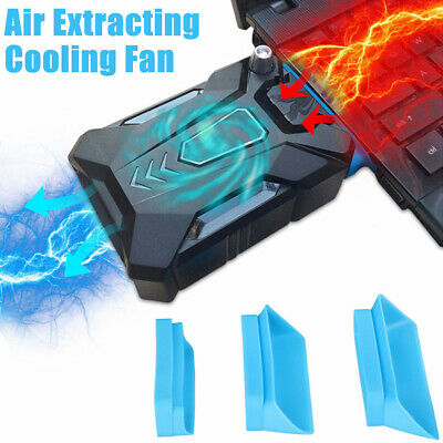 New Mini Vacuum Air Extracting USB Cooling Pad Cooler Fan For Notebook Laptop PC • 10.99£