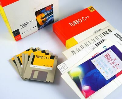 (BOXED) Borland Turbo C++ 3.0 For DOS (WORKING) • 99£