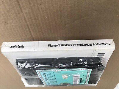 Microsoft Windows For Workgroups And MS DOS 6.2 User Guide And 14 Disk Set. • 25£