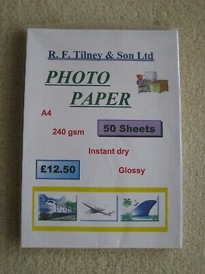 Glossy Photo Paper 50 Sheets A4. • 4£