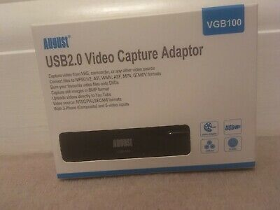 August Usb 2.0 Video Capture Adapter New • 20£