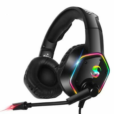 Gaming Headset Wired LED Headphones With Mic For Xbox One/PS4/PC/Nintendo Switch • 19.99£