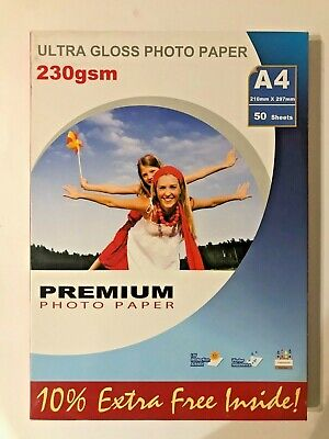 Radinks Premium Photo Paper Ultra Gloss A4 230 Gsm  50 Sheets • 6.99£