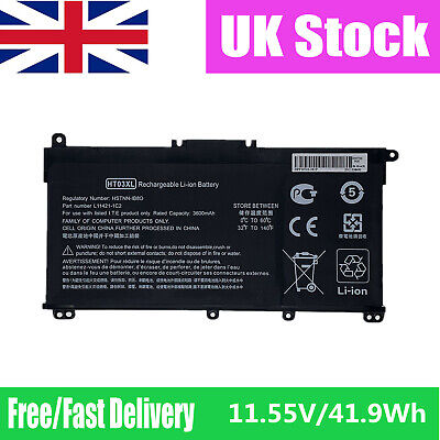 Replacement HP 15-CS 17-BY Series Laptop 11.55V Battery HT03XL L11119-855 • 30.66£
