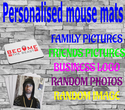 Personalised Custom Your Picture/ Logo Computer Mousemat Mouse • 3.49£