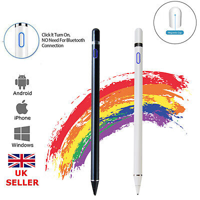 Digital Active Stylus Pen Pencil Fine Point For IOS Android IPad Touch Screen UK • 11.89£