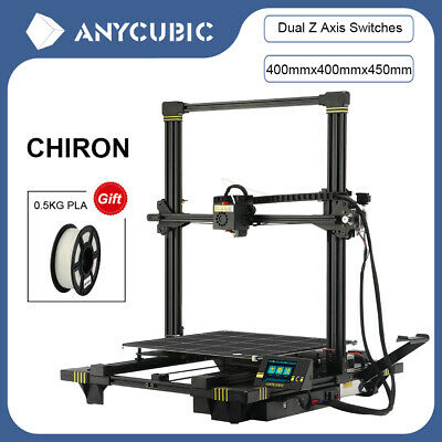 ANYCUBIC Chiron Semi-auto Level 3D Printer With Ultrabase Heatbed 400x400x450mm • 379£