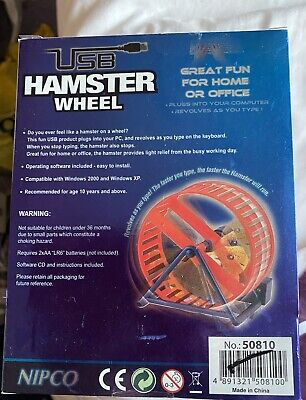 Never Opened USB Hamster Wheel. Compatible With Windows 2000 & XP. Nipco. • 0.99£