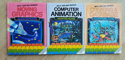 3 X Watts Write Your Own Programs Database Animation Graphics ZX Spectrum & BBC • 16.95£