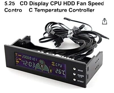 5.25in Bay Front LCD Panel 3 Fan Speed Controller CPU Temperature Sensor  • 6.95£