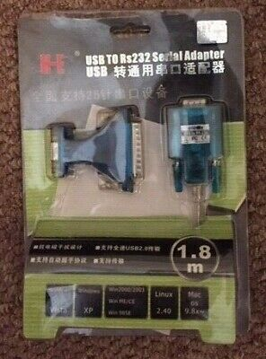 USB To RS232 Serial Adaptor 1.8m • 3£