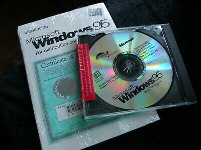 MICROSOFT WINDOWS 95 -    SEALED With Free Manual • 11.95£