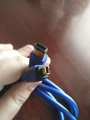 Quality NXG FireWire Cable - Premium 4 Pin Male To 6 Pin Male Blue 3m • 2£